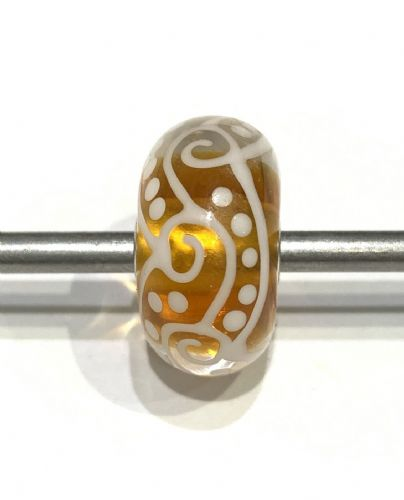 Jumbo Unique Yellow And White Trollbead JUMBO997